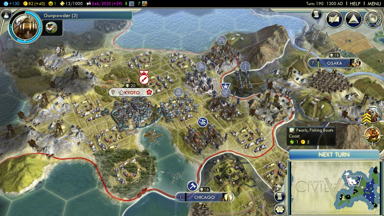 American Empire - Japan map civ 5