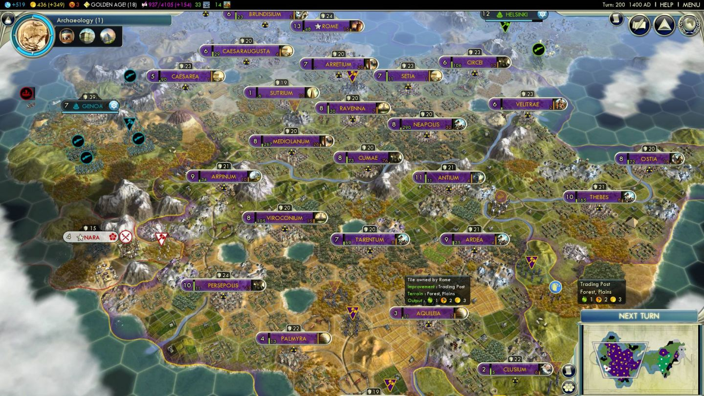 BNW Review – Civ 5 World Map