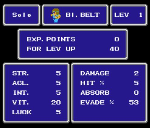 FF Stat screen